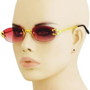 Soft Red Gold Frame Lux Sunglasses